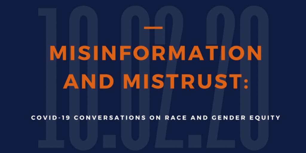 """Presentation title slide labeled """"Misinformation and Mistrust"""""""