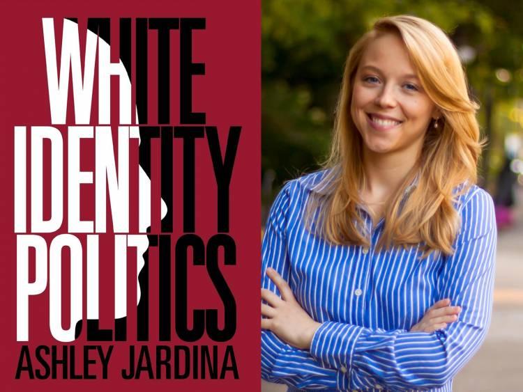 White Identity Politics book cover and Ashley Jardina headshot